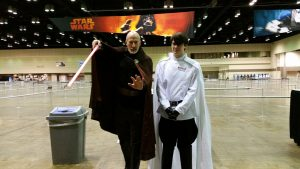 First Count Dooku cosplay I saw! Love these two, and they were so nice talking about their costumes :)!