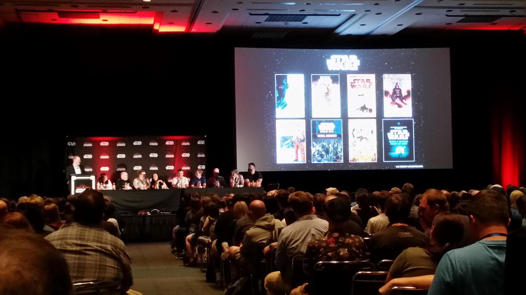 Star Wars comic books and books panel