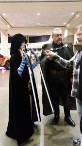 Count Dooku Cosplay 3 and Asajj Ventress