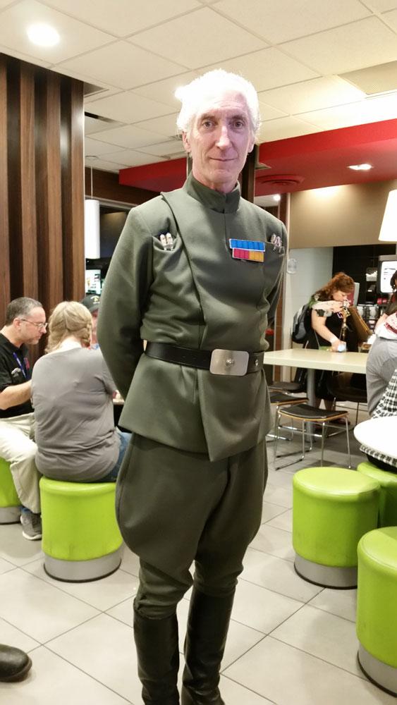 Grand Moff Tarkin himself...At a McDonald's!